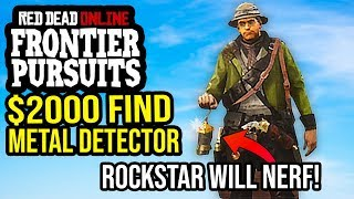 Red Dead Online : Metal Detector is AWESOME! Making $2000 A Day Collector Role