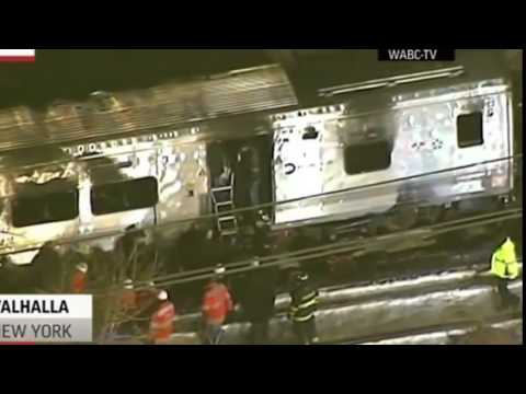 Commuter Train Hits SUV in New York City Suburbs - 7 Killed