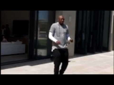 Lamar Odom Dancing With Kanye West At Khloe's Easter Party
