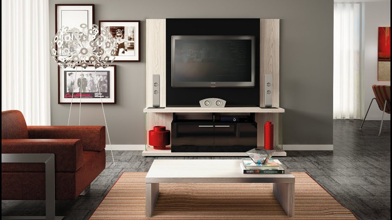 Manhattan Comfort Delacorte Entertainment Center Furniture With Flat Panel TV  Mount TV Stand   YouTube