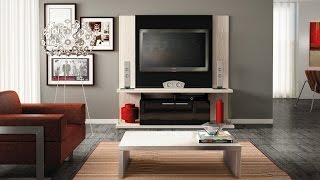Manhattan Comfort Delacorte Entertainment Center Furniture With Flat Panel Tv Mount-tv Stand
