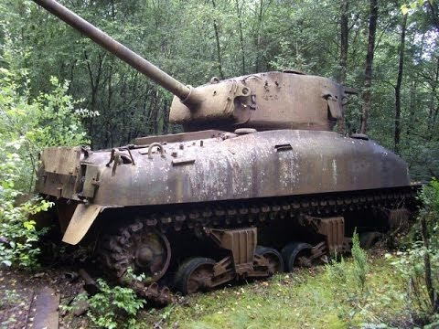 Watch free wwii tank abandoned world war ii tank wrecks part 1 abandoned world war ii tanks and their last known locations on google maps sherman tanks chaffee tanks m7 priests t 3485 gumiabroncs Gallery