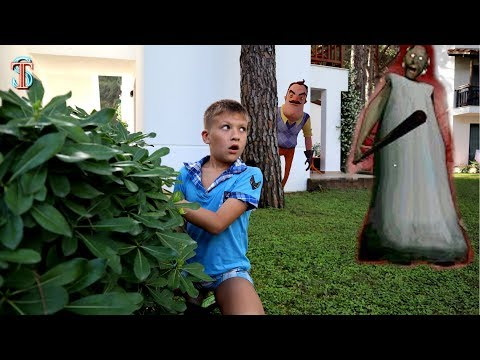 Прятки в ОТЕЛЕ! Тима потерялся! Гренни и Привет Сосед приследуют!