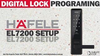 Setting Master Password for Kaadas K8 Digital Door Lock