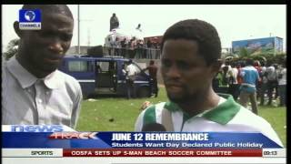 June 12 Students Want Day Declared Public Holiday -- 12/06/15