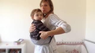 프랑스 초소형 초경량 그물형 통가 아기띠 착용법