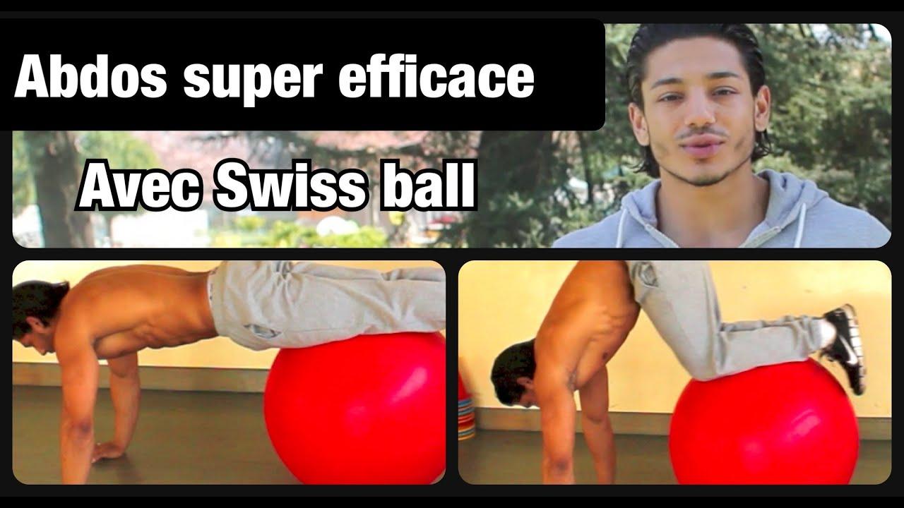 "SUPER exercice ABDOS: GAINAGE ""genoux poitrine"" avec swiss ..."