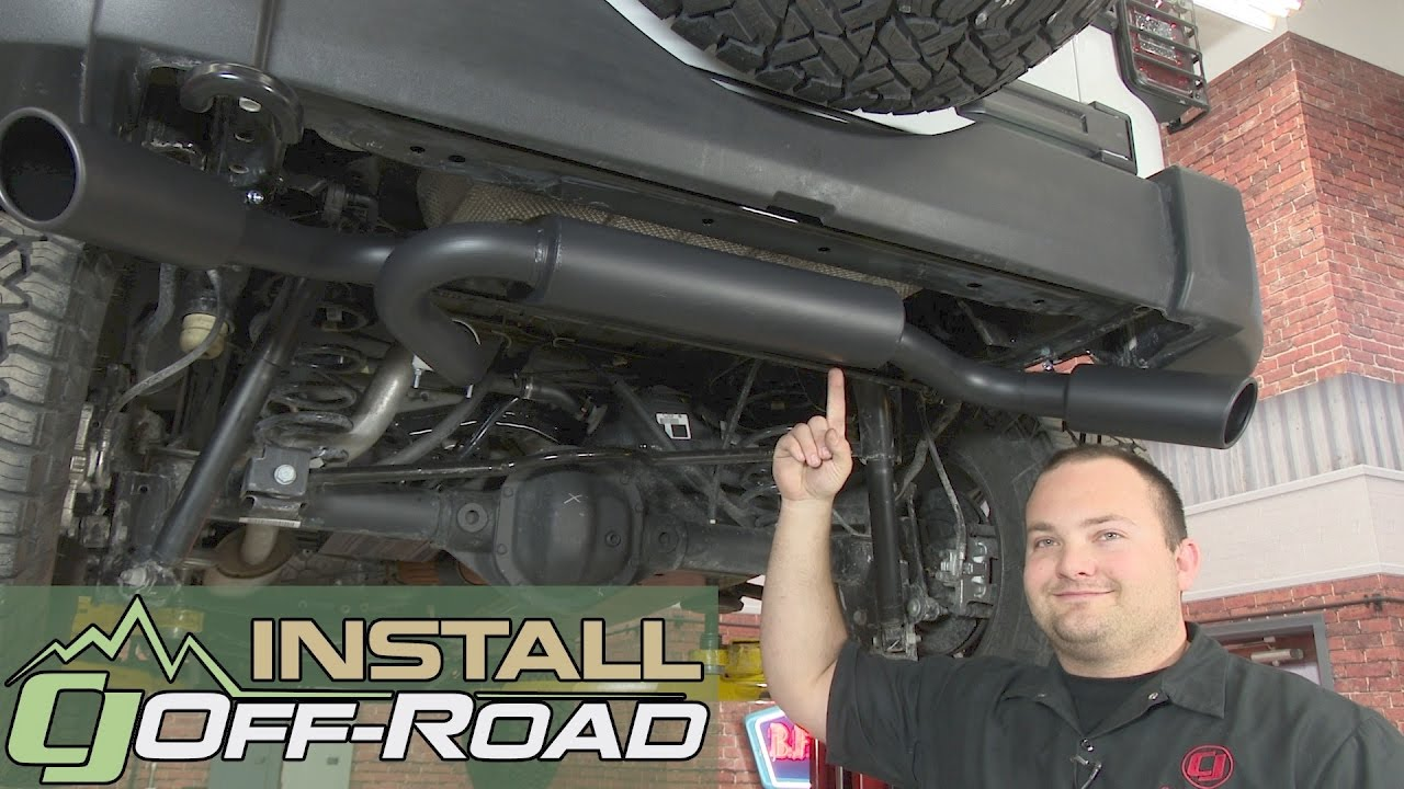 jeep wrangler jk gibson axle back 2 1 2 extreme ceramic dual exit w 4 tips 2007 2018 installation