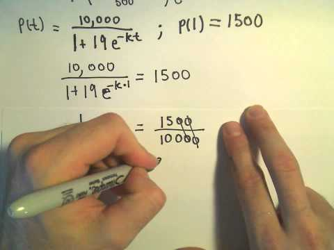 The Logistic Equation and Models for Population - Example 1, part 1