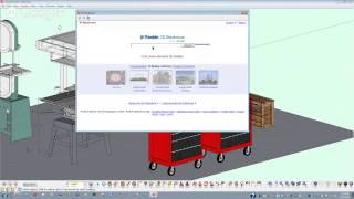 SketchUp tutorial: to plan a shop space