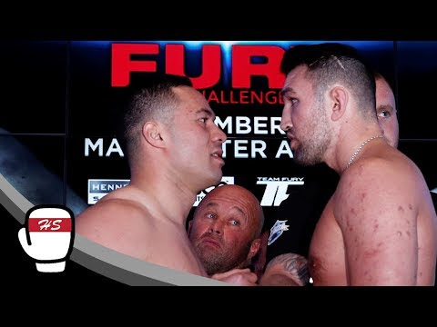 FIGHT BREAKS OUT Between Joseph Parker And Hughie Fury At Weigh In! | YouTube.com/ParkerFury