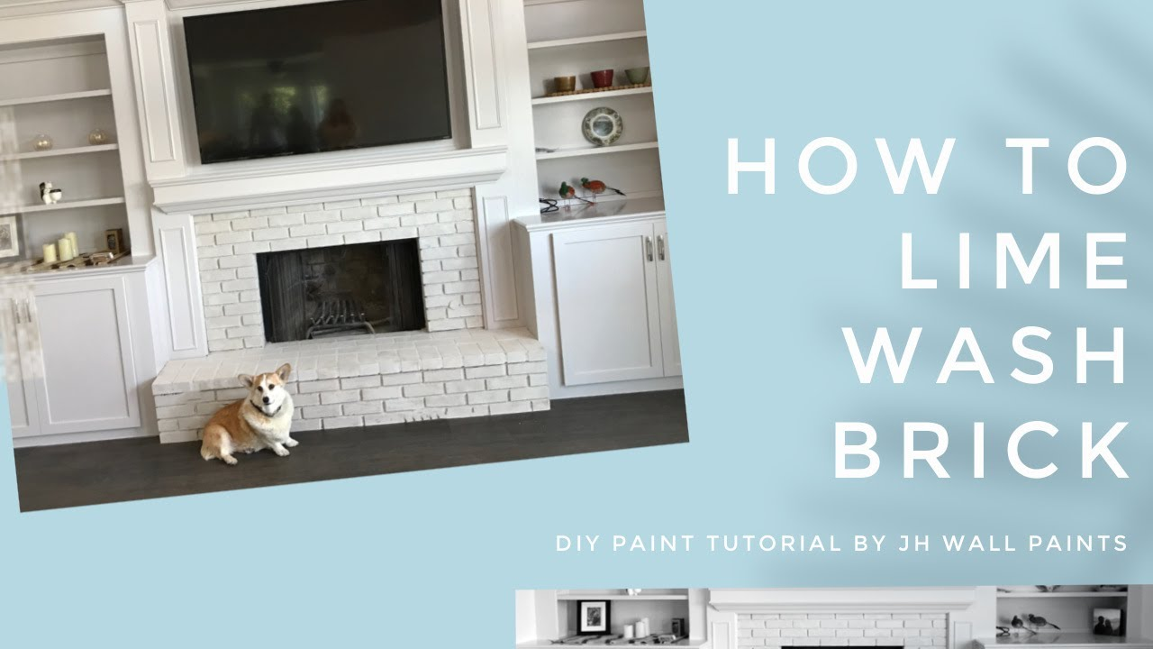 How To Paint Red Brick Using Lime Paint For Best Adsorption And A