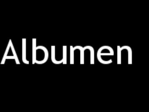 How to Pronounce Albumen