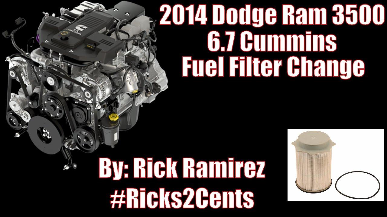 Dodge Ram 6 7 Cummins Fuel Filter Change