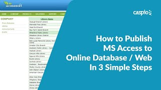 How to Publish MS Access to Online Database / Web In 3 Simple Steps Mp3