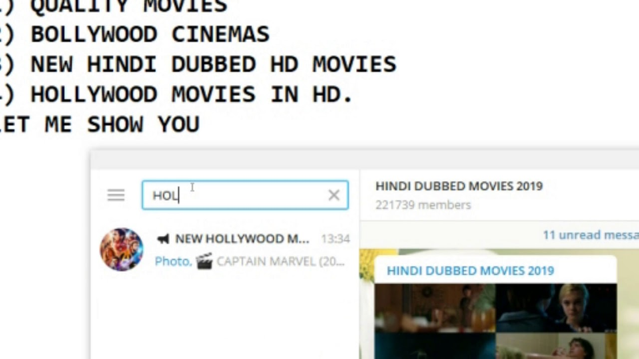 how to download high quality movies using Telegram on P C