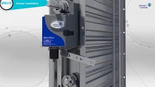 Johnson Controls M9310 Actuator and Damper: Quick Installation