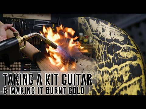 Taking a Kit Guitar and making it Burnt Gold - Ep 2 of 3