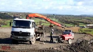Raising the Road-Bed with Dump Trucks and Dozers. - Llanddowror ByPass (40)