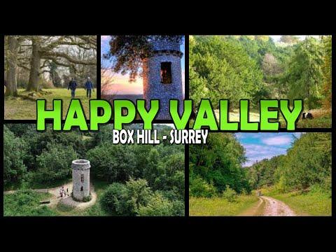 HAPPY VALLEY Walk - Box Hill - Surrey - England (4K)