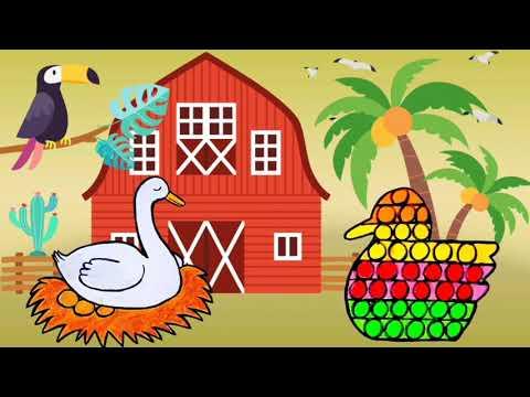 Download Menggambar Dan mewarnai Pop It  Bentuk Bebek 💞 Lagu Potong Bebek Angsa 💞 Pop It Bebek