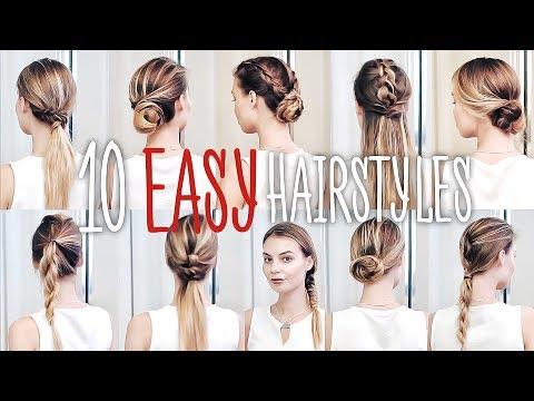 ТОП 10 ПРИЧЕСОК на КАЖДЫЙ ДЕНЬ для ТОНКИХ волос #VictoriaR