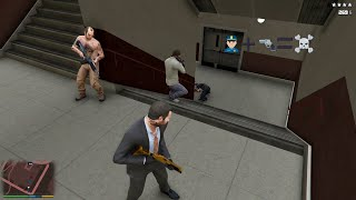 GTA 5 - Franklin, Michael and Trevor Five Star Escape From LS International Airport # 50