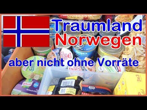 Mit dem Wohnmobil nach Norwegen aber nicht ohne ausreichend Proviant, Vorräte, Lebensmittel