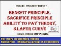 #5 Public finance topic 5-ability to pay, benefit principle and sacrifice principle