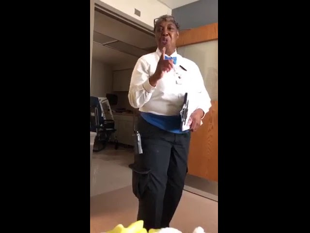 Kenmore Mercy Hospital employee brings smiles to patients through song