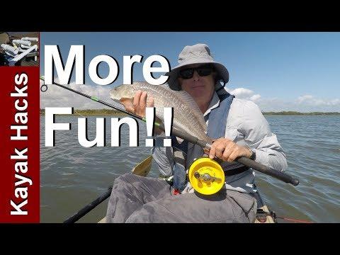Alvey Reel Kayak Fishing - Using The Drag System... Or Not