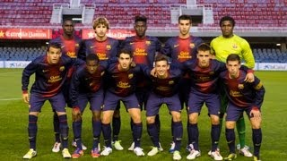 Match between the fc barcelona and chelsea under 19 teams in round of sixteen nextgen series, to be played over a single leg (0-2).