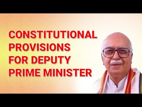 P/10 Constitutional Provisions for Deputy Prime Minister