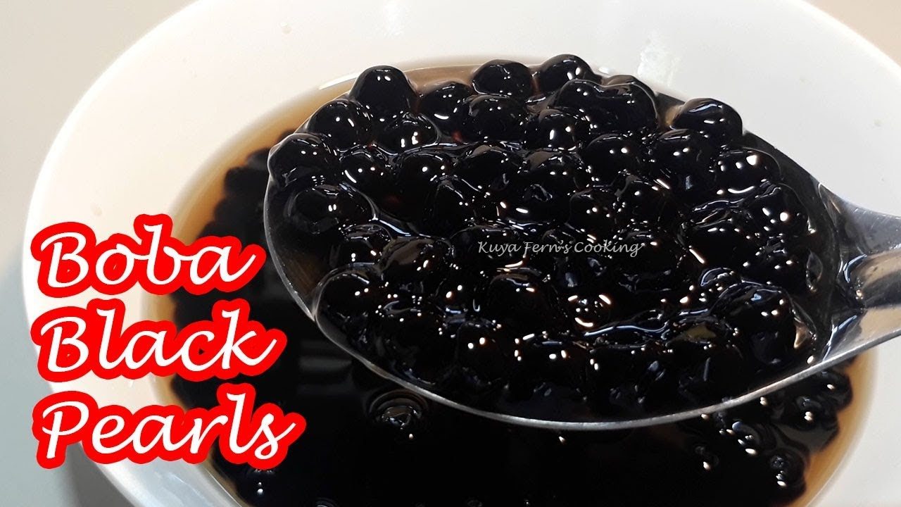 THE EASIEST WAY TO COOK BOBA BLACK TAPIOCA PEARLS   FOR SHAKES AND DRINKS!!!