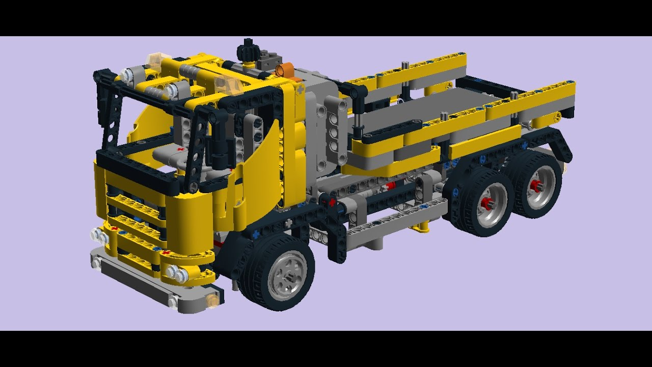 lego technic 8292 cherry picker model b dump truck. Black Bedroom Furniture Sets. Home Design Ideas