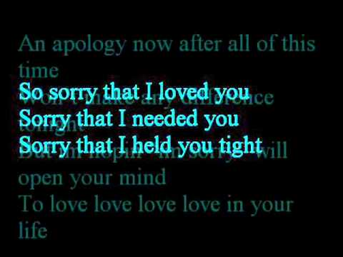 Sorry that i loved you - anthony neely karaoke