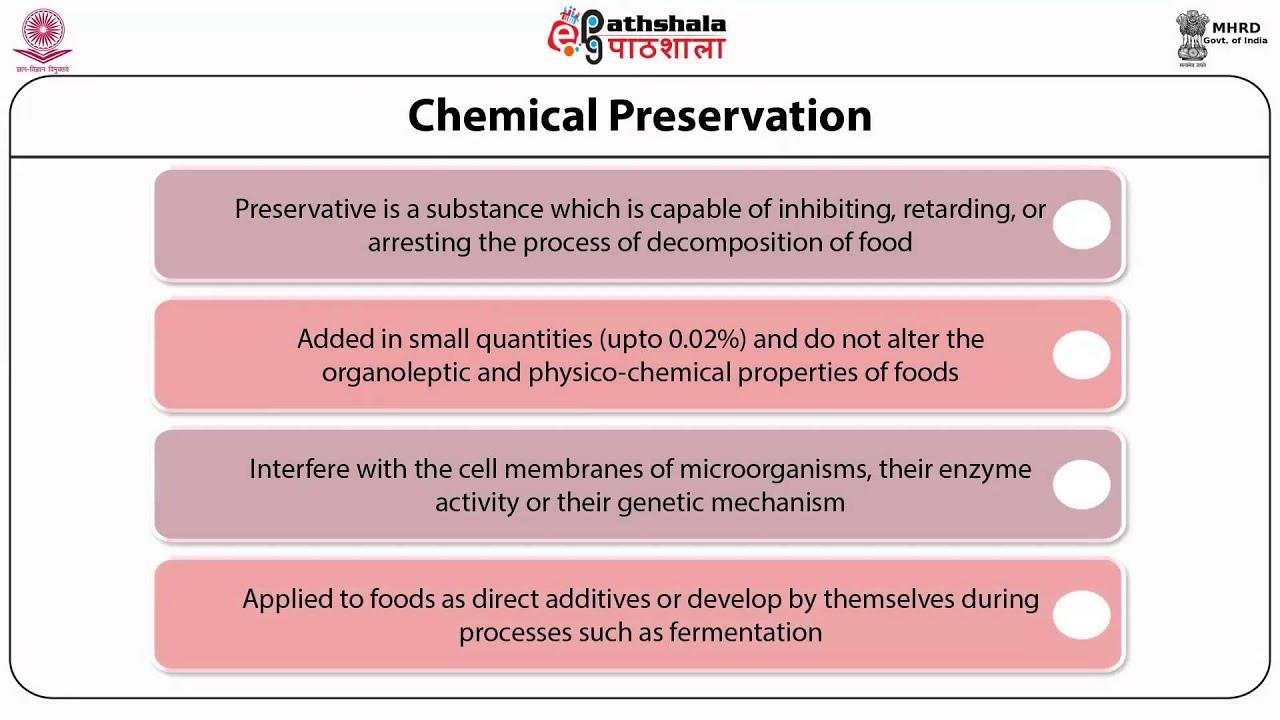chemical preservation of food pdf