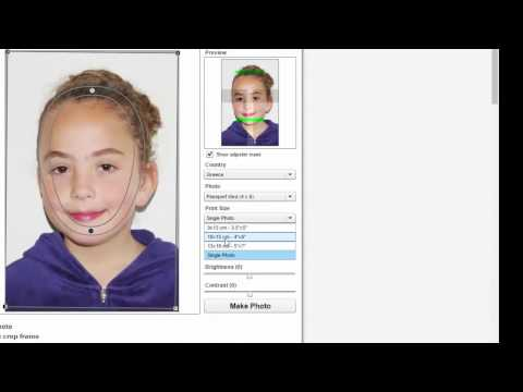 Create your own passport size photo online for free