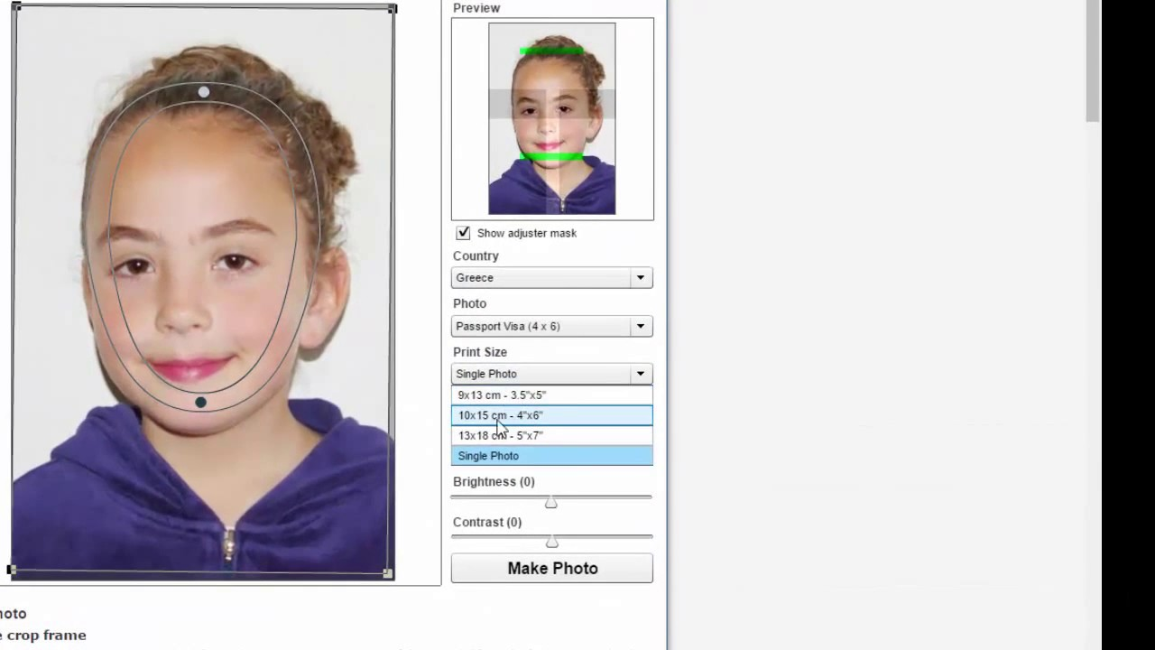Create Your Own Passport Size Photo Online For Free Youtube