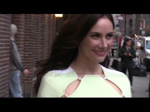 Laura Benanti Outside Colbert