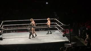 Ronda Rousey vs Nia Jax (guest referee Alexa Bliss & Mickie James) July 6, 2018 Philadelphia WWE