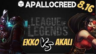 Apallocreed   Ekko vs Akali mid Ranked Patch 8.16 [Edited]