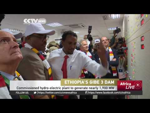 Commissioned hydro-electric plant in Ethiopia to generate nearly 1,900 MW