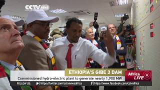 CCTV - Commissioned Hydro-electric Plant in Ethiopia to Generate Nearly 1,900 MW