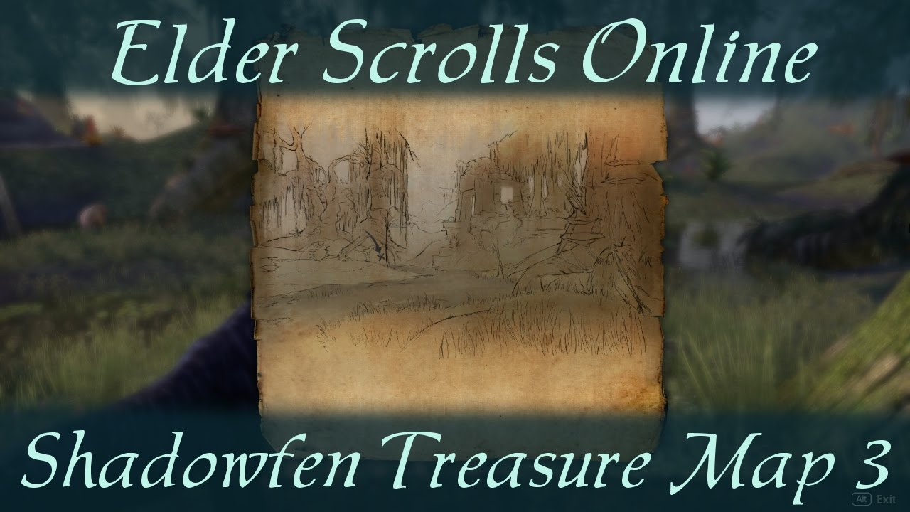 Shadowfen Treasure Map 3 iii [Elder Scrolls Online] ESO - YouTube