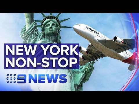 Qantas' Bold Experiment To Fly From Sydney To NYC Non-stop | Nine News Australia