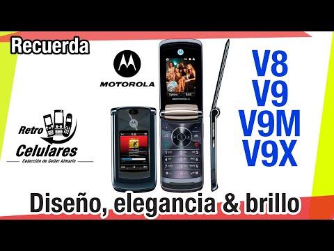 Recuerda Motorola RAZR2 V8 & V9 Diseño, Elegancia & Brillo Despues Del V3 Retro Celulares