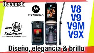 Motorola RAZR2 V9 & V8 Colección Celulares Clásicos, antiguos o viejos OLD PHONES RETRO CELULARES