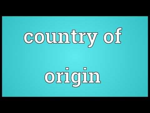 Country of origin Meaning