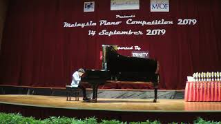 Moses Wong- Joint 3rd Prize Winner, Age 12 and Below Division-M. Moszkowski: Etude Op 72 No.6